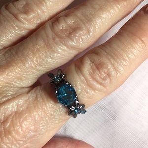 Jewelry - GRAYISH BLACK RING SETTING WITH BLUE Stones